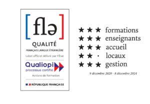 Label qualité FLE ; Certification Qualiopi