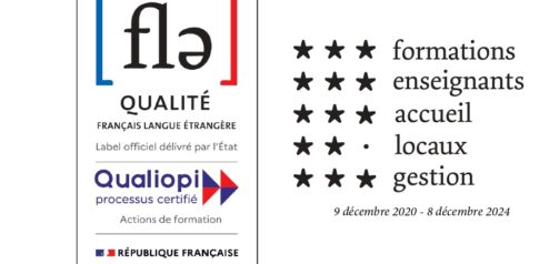 Label Qualité FLE ; Certification Qualiopi